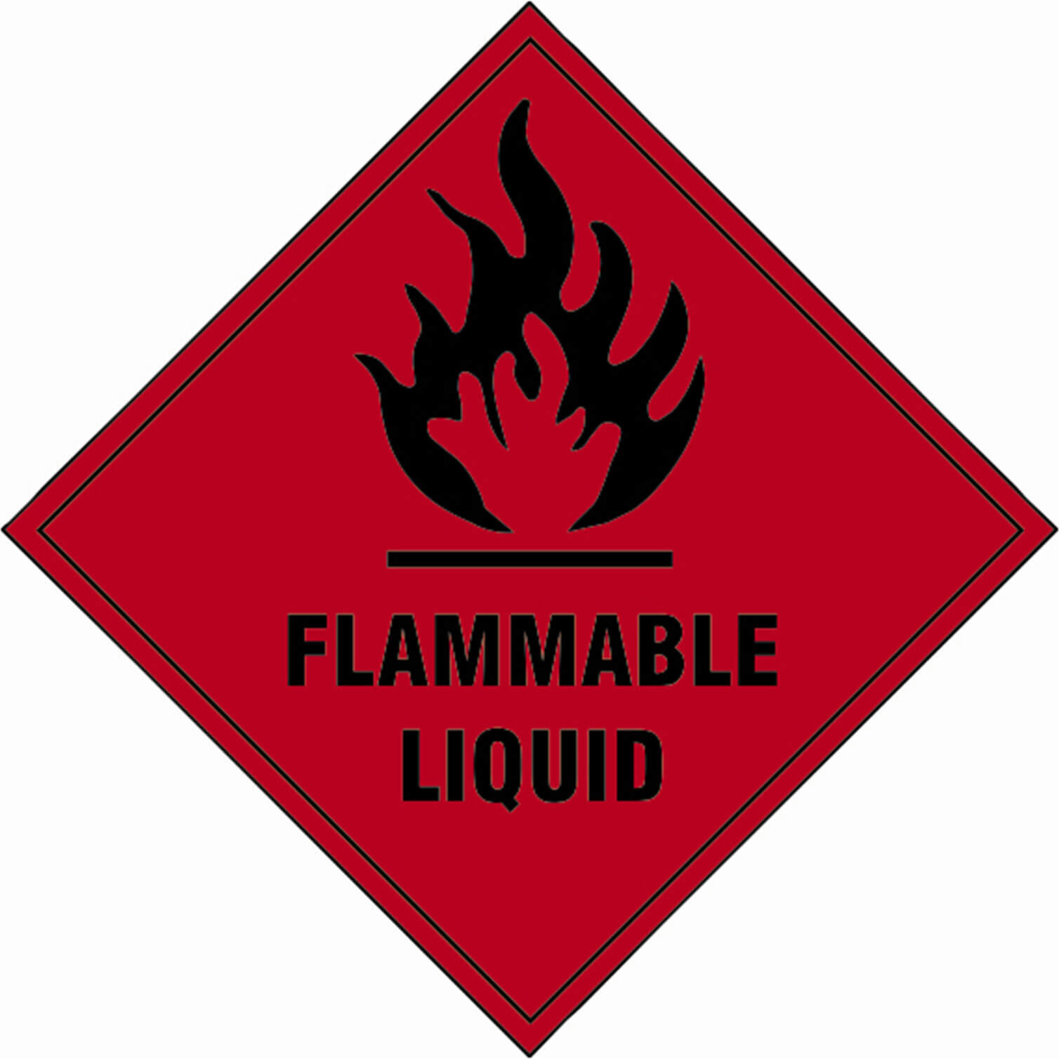 Tooled Up/Safety & Workwear/Safety/Scan 100 x 100mm SAV Diamond Sign - Flammable Liquid