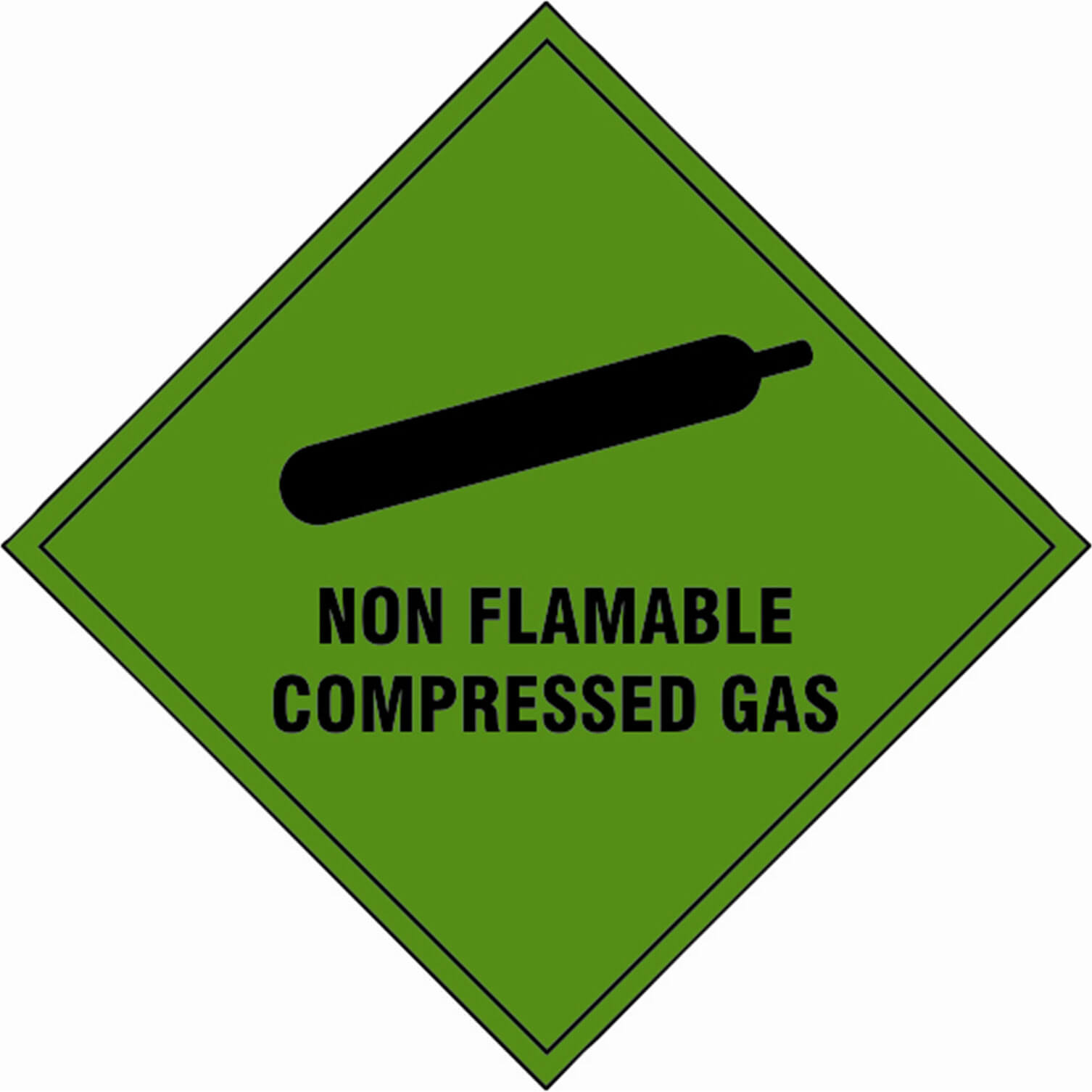 Tooled Up/Safety & Workwear/Safety/Scan 100 x 100mm SAV Diamond Sign - Non Flammable Compressed Gas