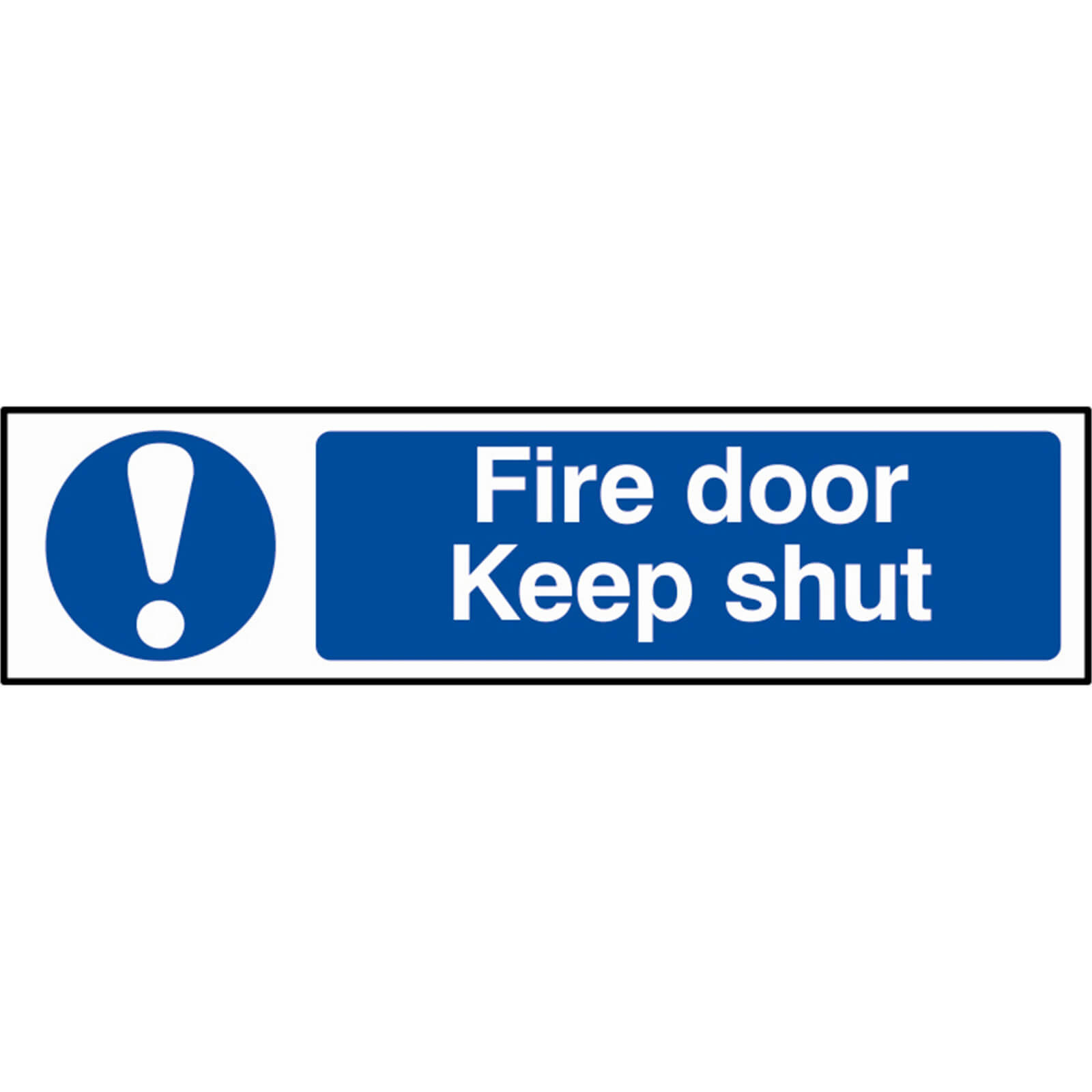 Tooled Up/Safety & Workwear/Safety/Scan 200 x 50mm PVC Sign - Fire Door Keep Shut