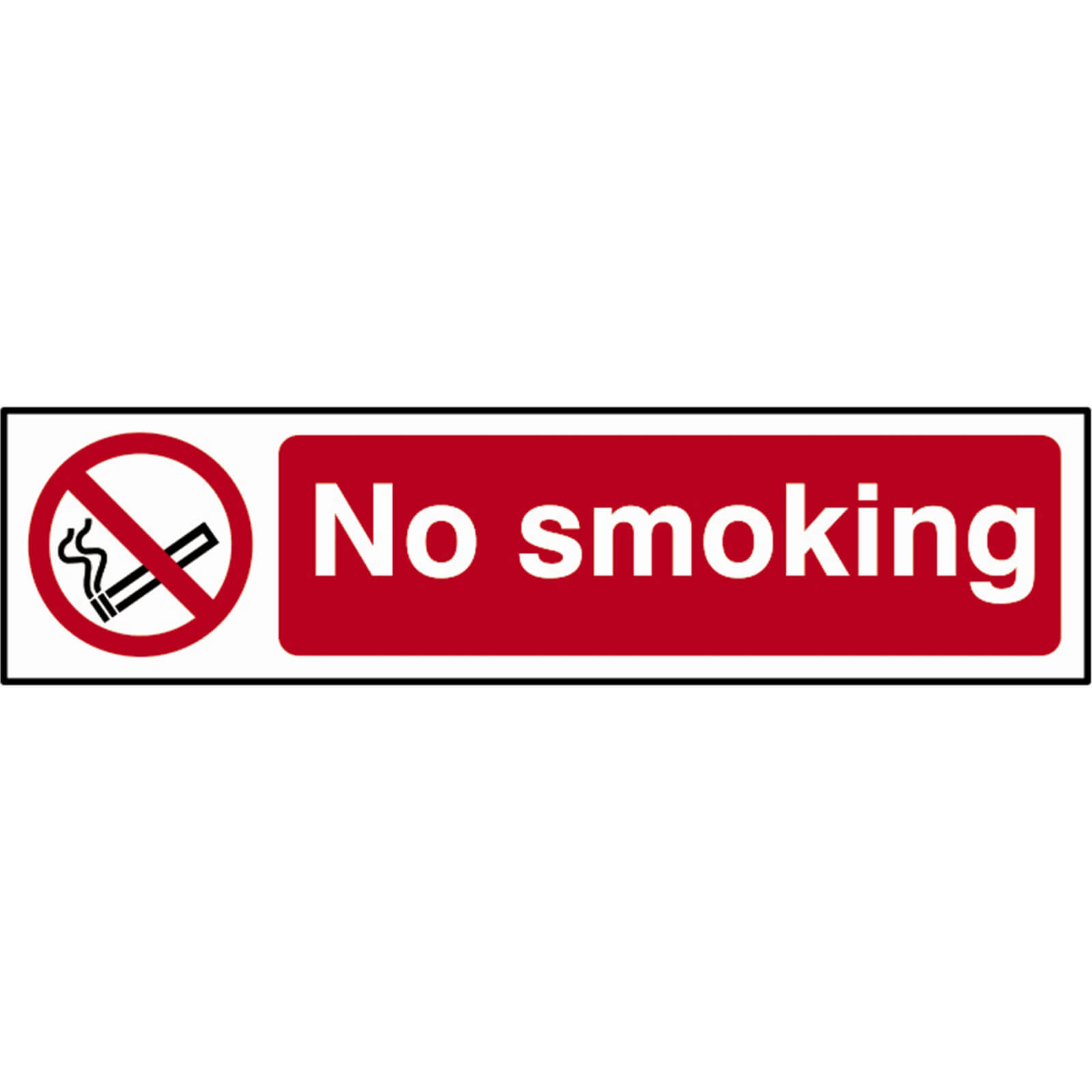Tooled Up/Safety & Workwear/Safety/Scan 200 x 50mm PVC Sign - No Smoking