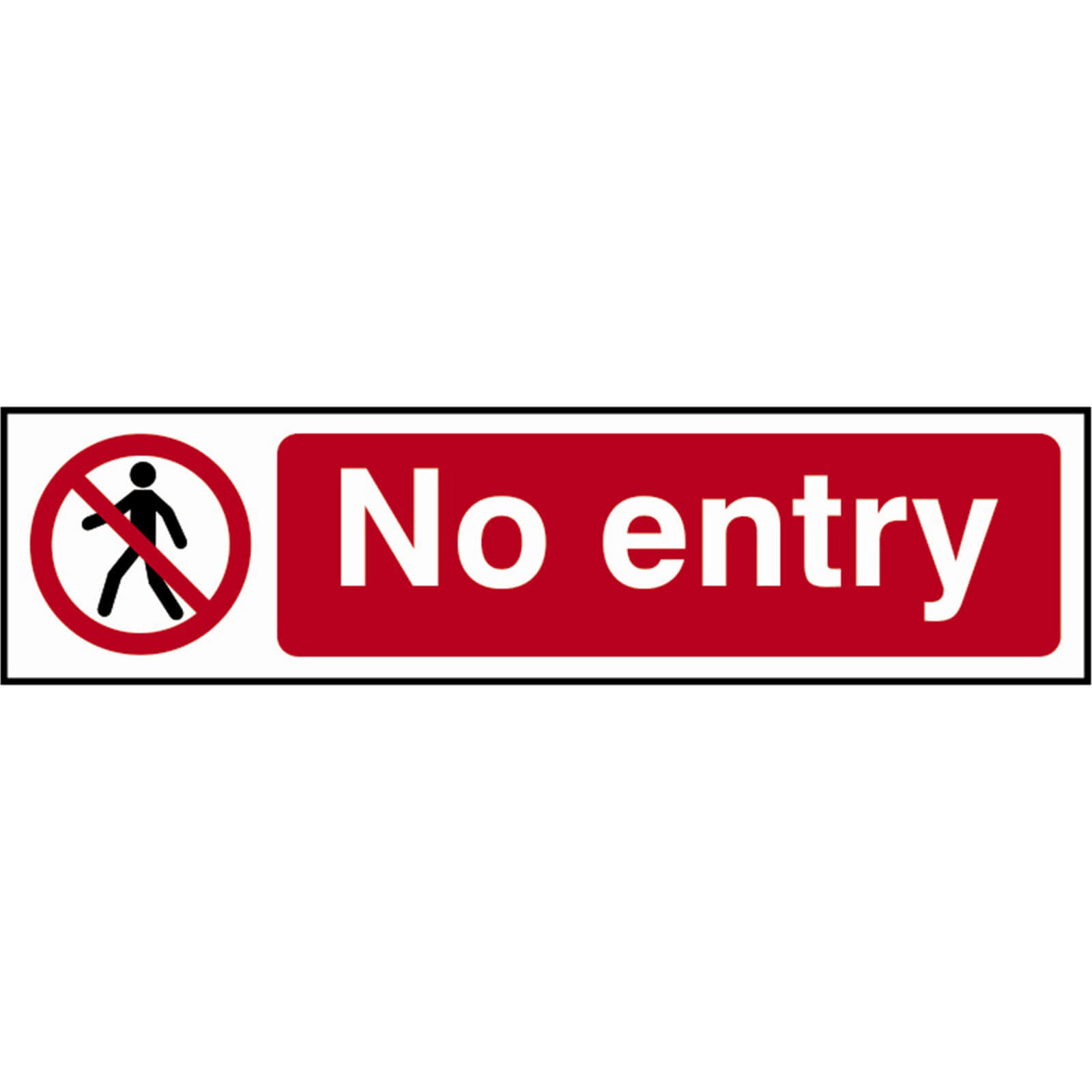 Tooled Up/Safety & Workwear/Safety/Scan 200 x 50mm PVC Sign - No Entry