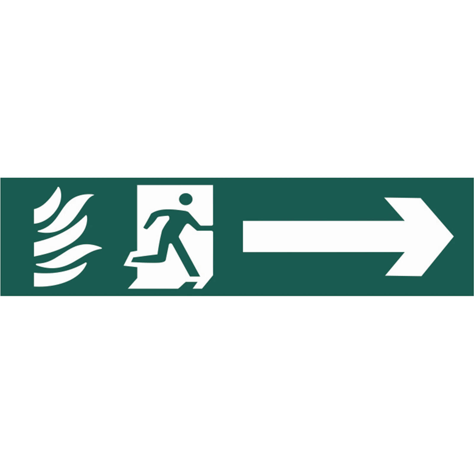 Tooled Up/Safety & Workwear/Safety/Scan 200 x 50mm PVC Sign - Running Man Arrow Right