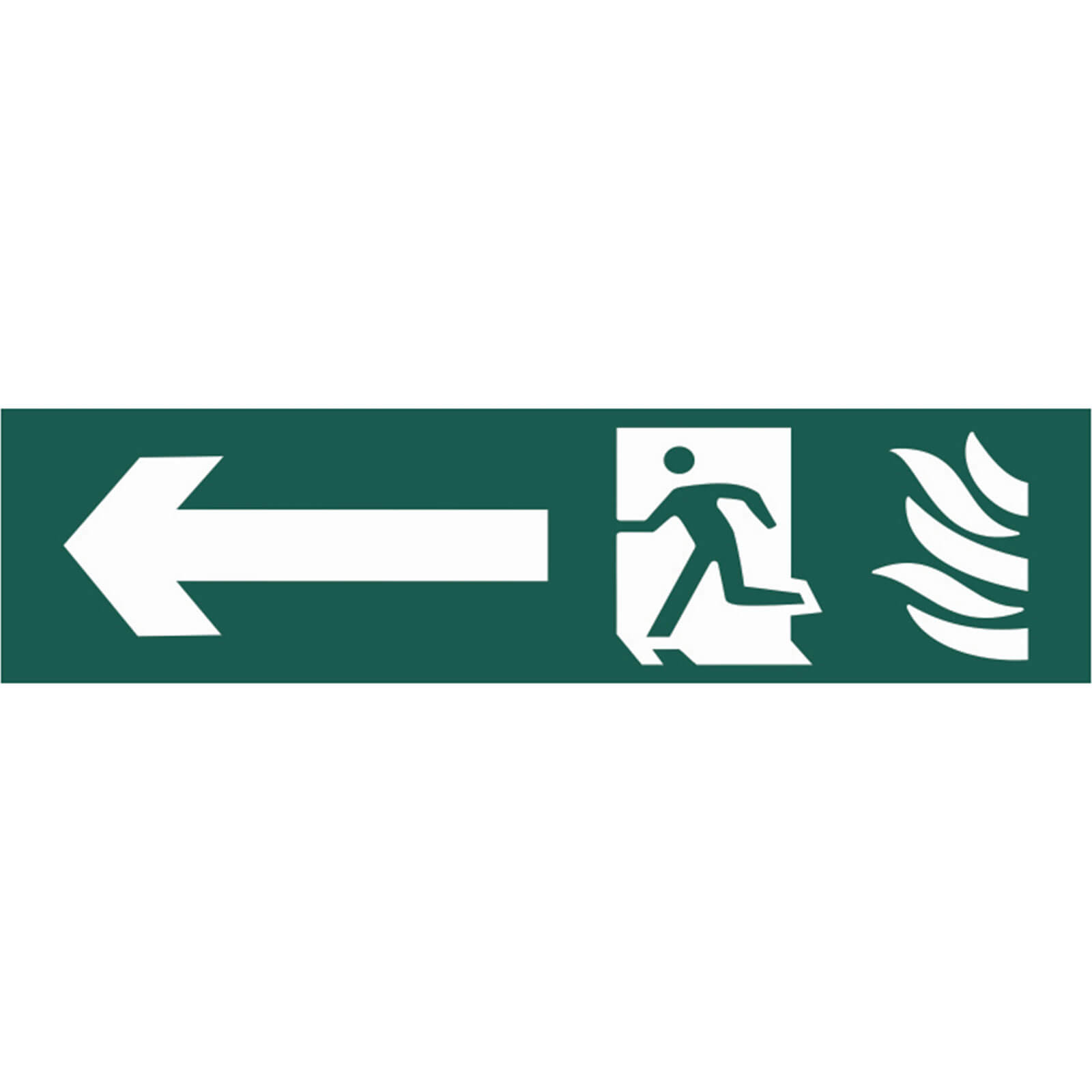 Tooled Up/Safety & Workwear/Safety/Scan 200 x 50mm PVC Sign - Running Man Arrow Left