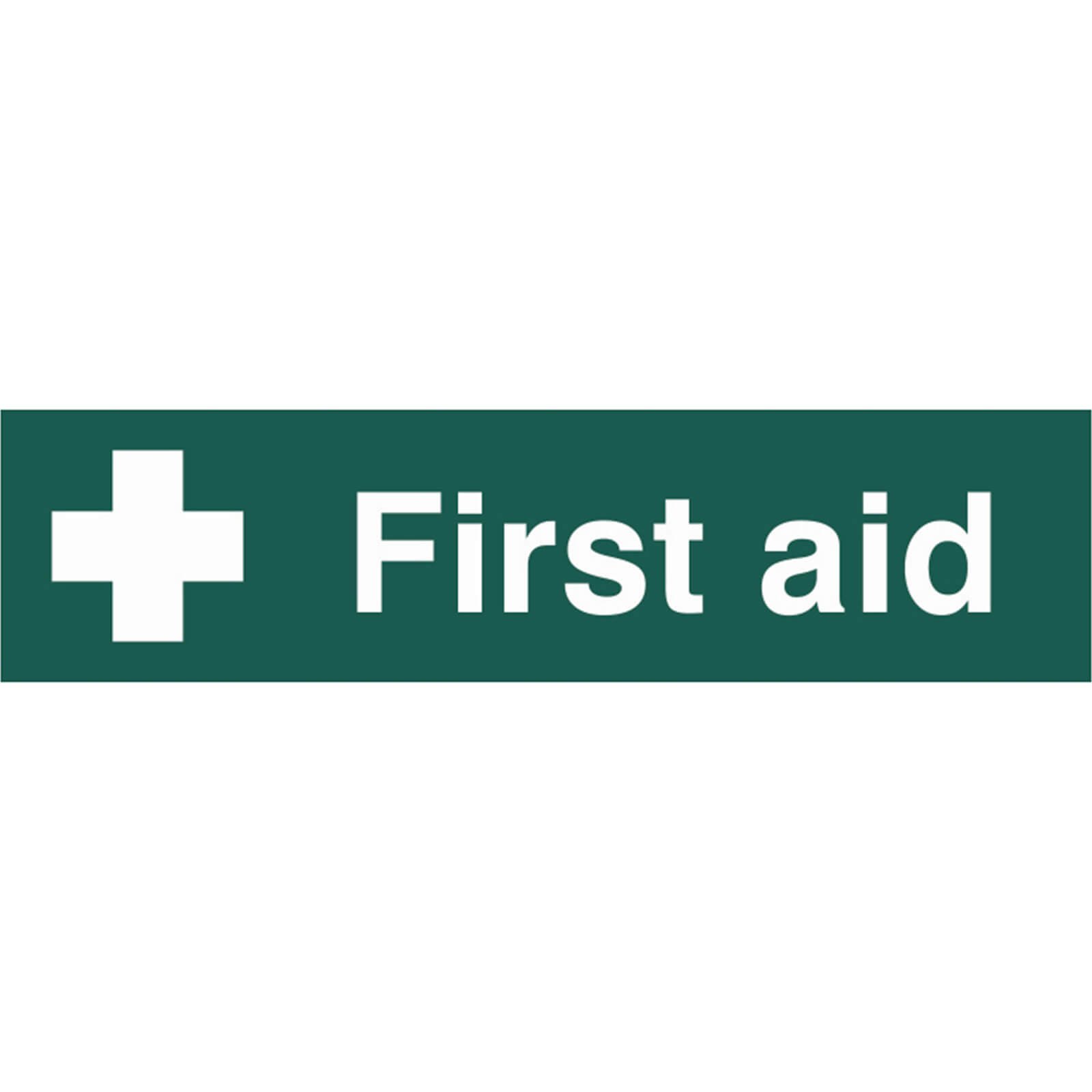 Tooled Up/Safety & Workwear/Safety/Scan 200 x 50mm PVC Sign - First Aid