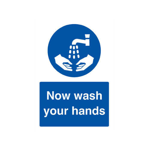 Tooled Up/Safety & Workwear/Safety/Scan A5 Sign - Now Wash Your Hands