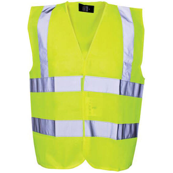 Tooled Up/Safety & Workwear/Workwear/Scan Childrens Hi Vis Waistcoat EN471 Class 2 Yellow Age 7-9