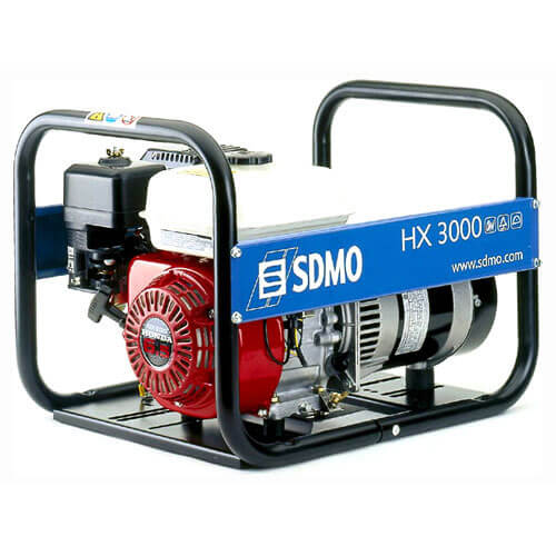 SDMO HX 3000 Portable Petrol Generator 3 Kw (3.75 Kva) with Honda GX200 Engine
