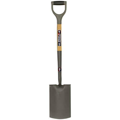Spear & Jackson Neverbend Carbon Treaded Digging Spade with 712mm Handle