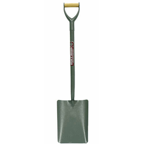 Spear & Jackson Neverbend Tubular Steel Taper Mouth Contractors Shovel Size 2 with 711mm Handle