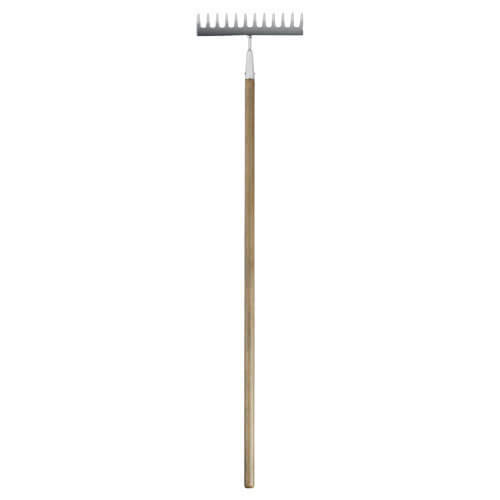 Spear & Jackson Traditional Stainless Steel Soil Rake 12 Teeth with 1219mm Wooden Handle