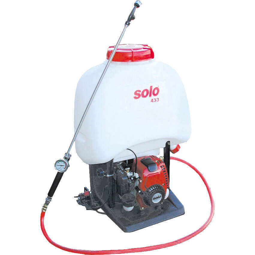 Solo 433 Back Pack Petrol Chemical & Water Pressure Sprayer 23 Litres Holds 20 Litres with Honda GX25 Engine & 600mm Spray Lance