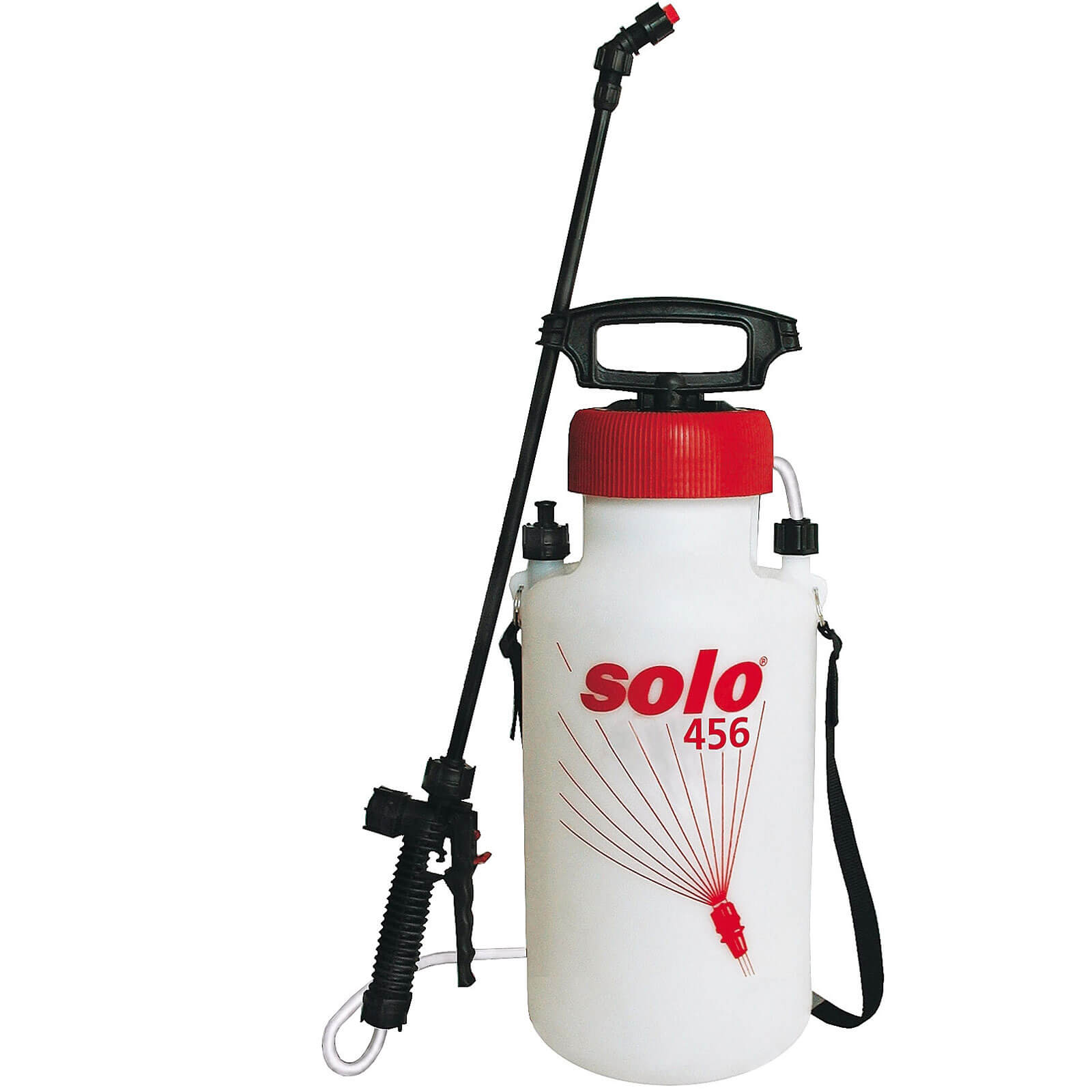 Solo 456 Chemical & Water Pressure Sprayer 7.5 Litres Holds 5 Litres with 500mm Spray Lance