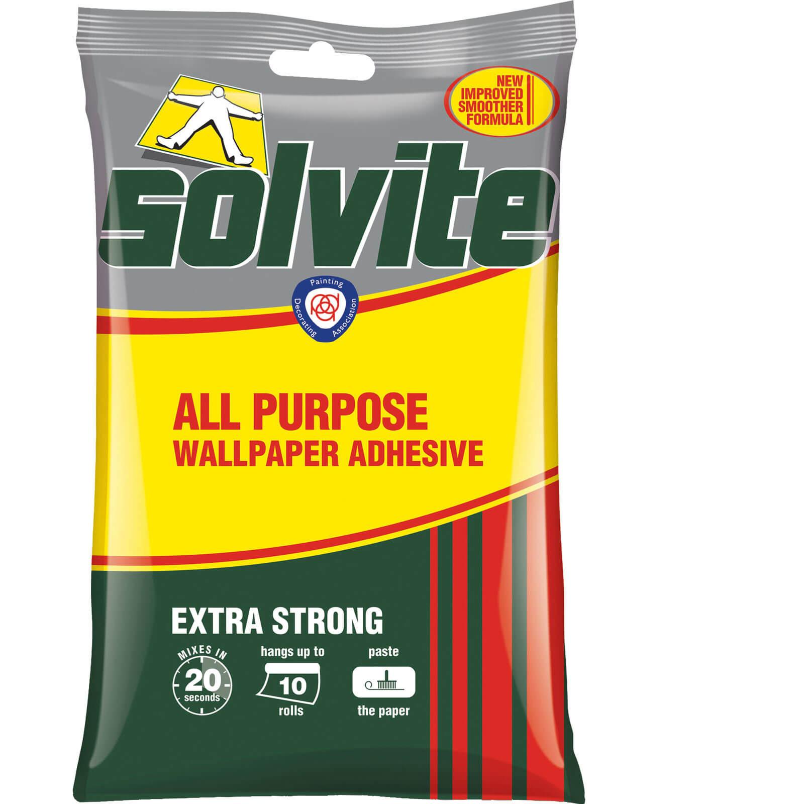 Solvite all purpose wallpaper paste sachet 5 roll for Wallpaper paste home hardware