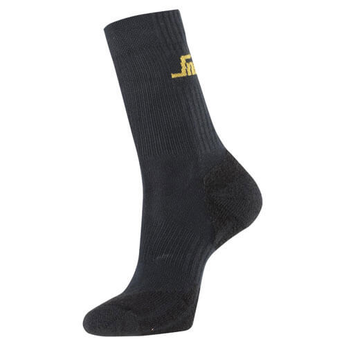 Tooled Up/Safety & Workwear/Footwear/Snickers Mens Flame Retardant Socks Black Size 4 - 6