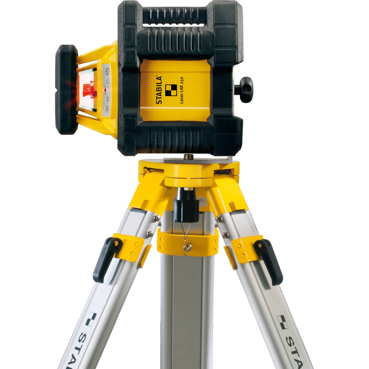 Stabila LAR250 Self Levelling Auto Rotation Laser Level + Tripod + Levelling Rod
