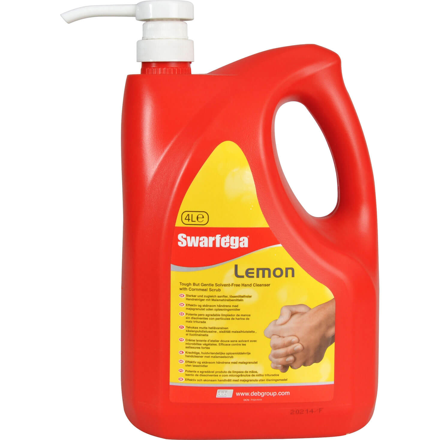 Swarfega Lemon Hand Cleaner in Pump Top Bottle 4L