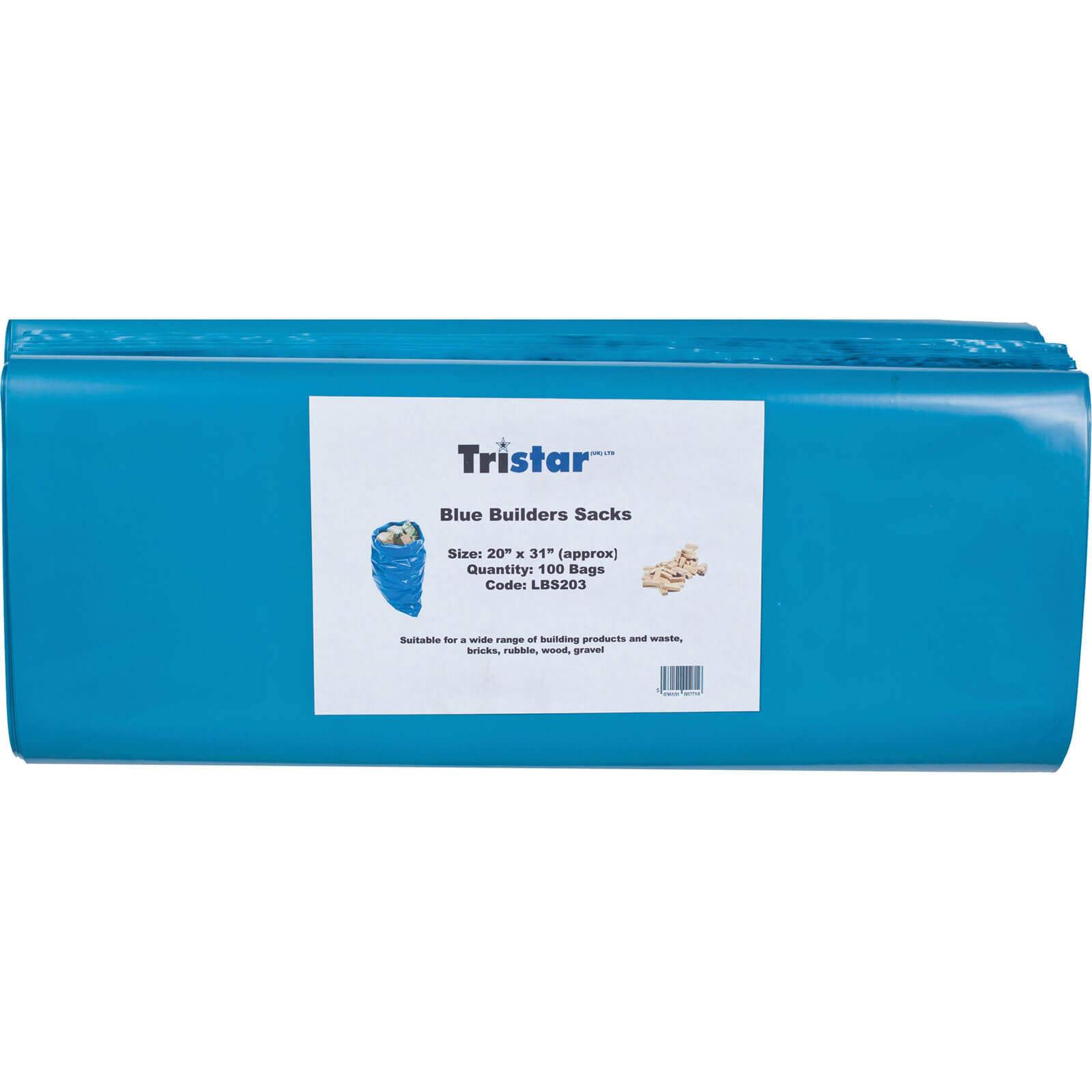 Tristar Blue Builders Sack Pack of 100