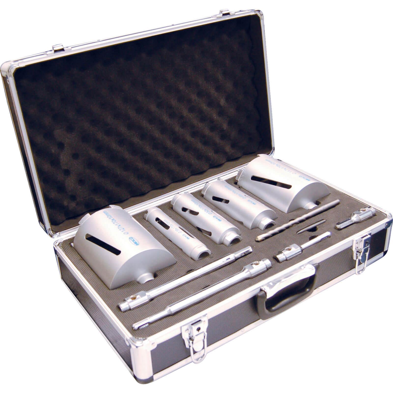 11 Piece Premium Dry Diamond Core Drill Bit Set with Case