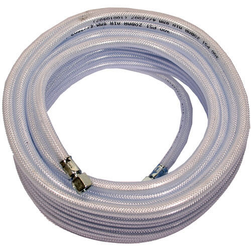 "15m Standard High Quality Air Hose 12.5mm (1/2"") with 1/4"" BSP Female Connectors"