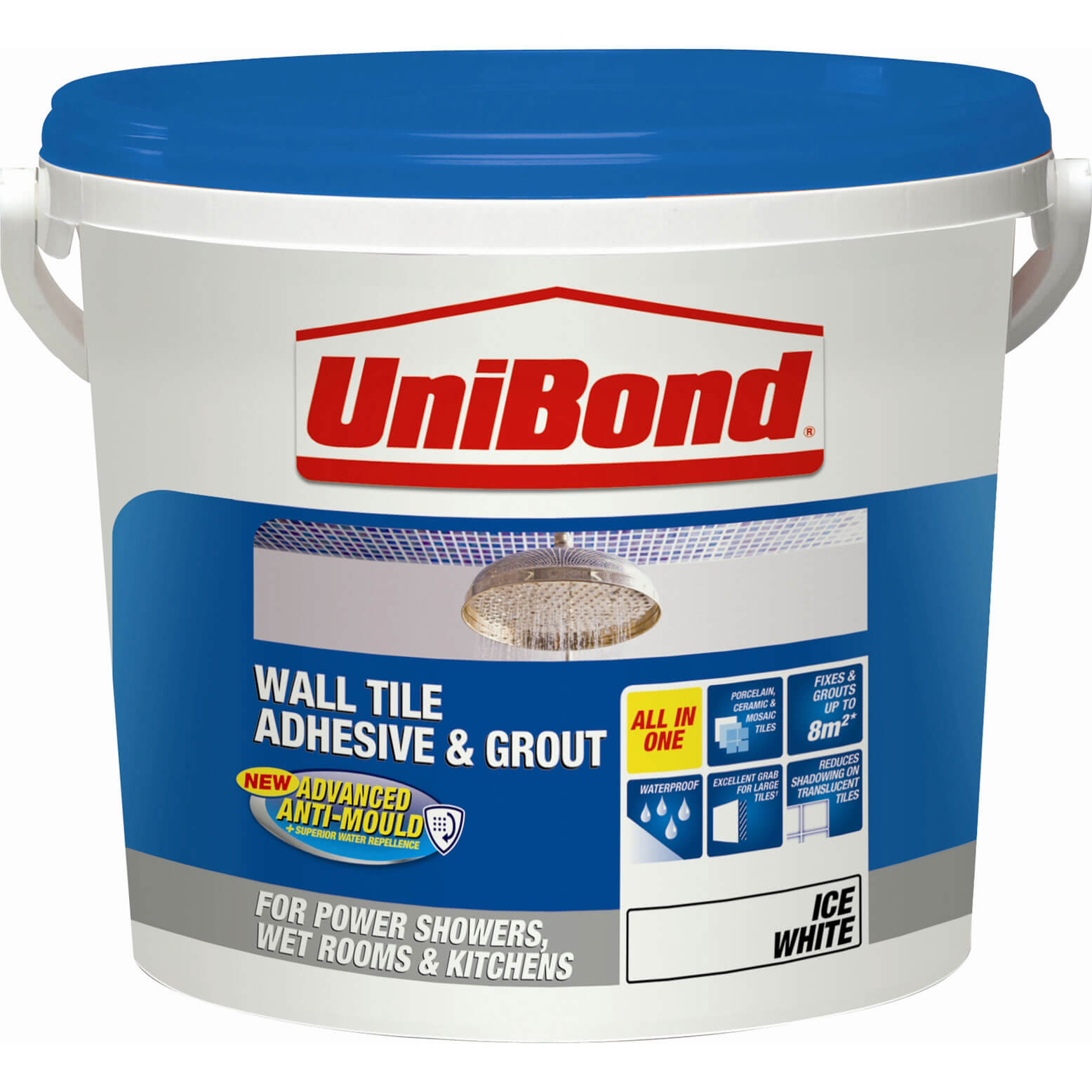 Porcelain floor tile adhesive and grout