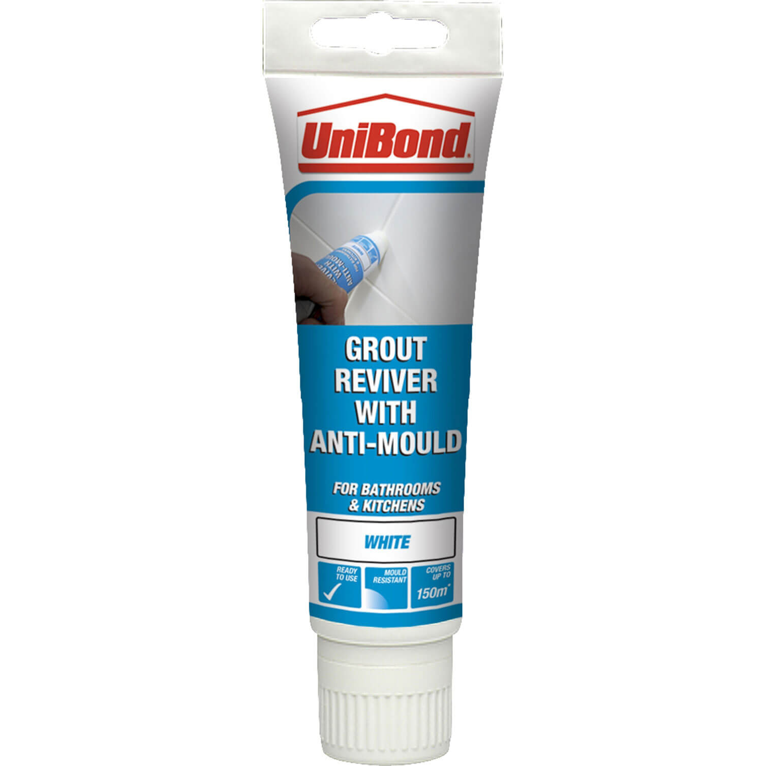 Unibond Grout Reviver for Floors & Walls 125ml Ice White