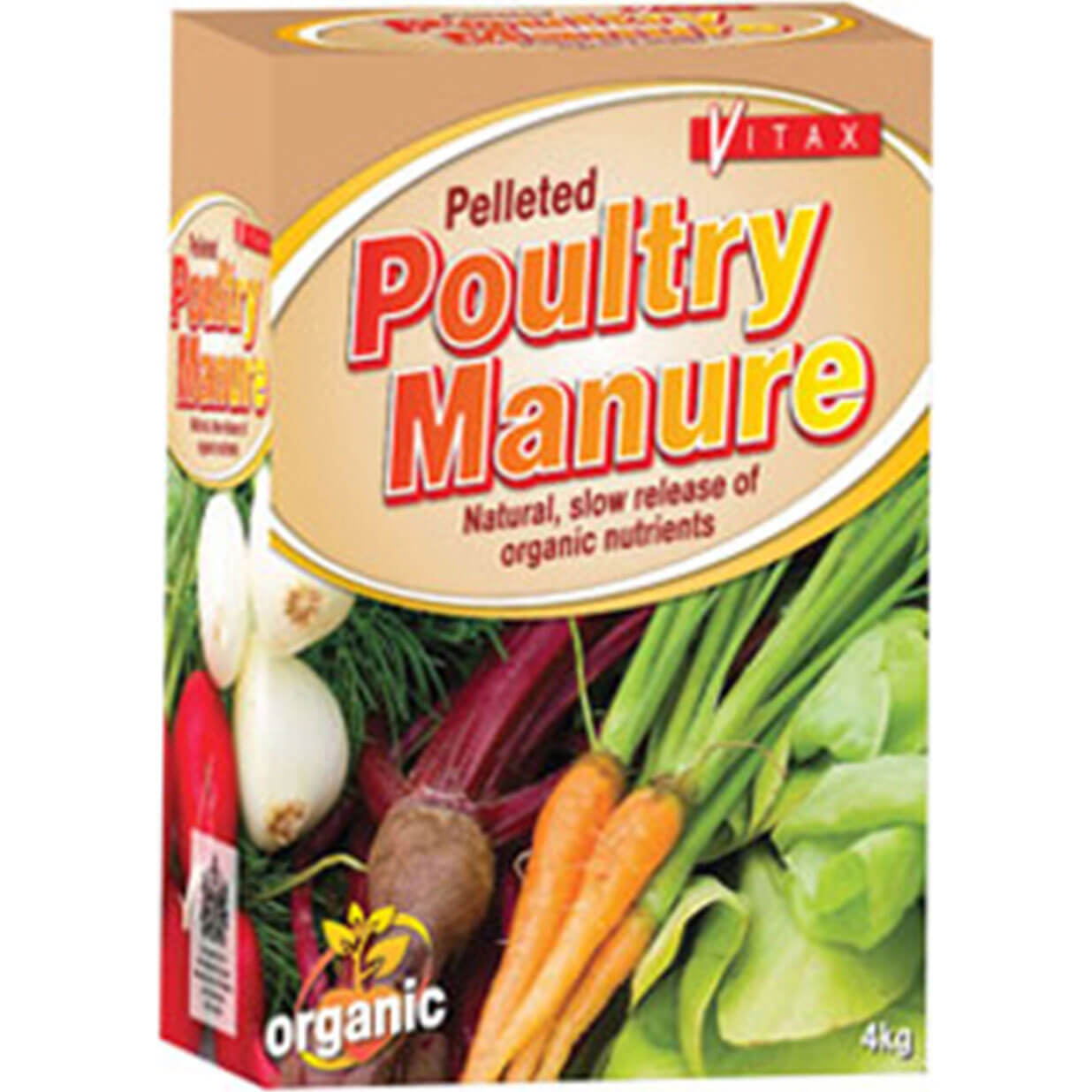 Vitax Pelleted Poultry Manure 4kg Box