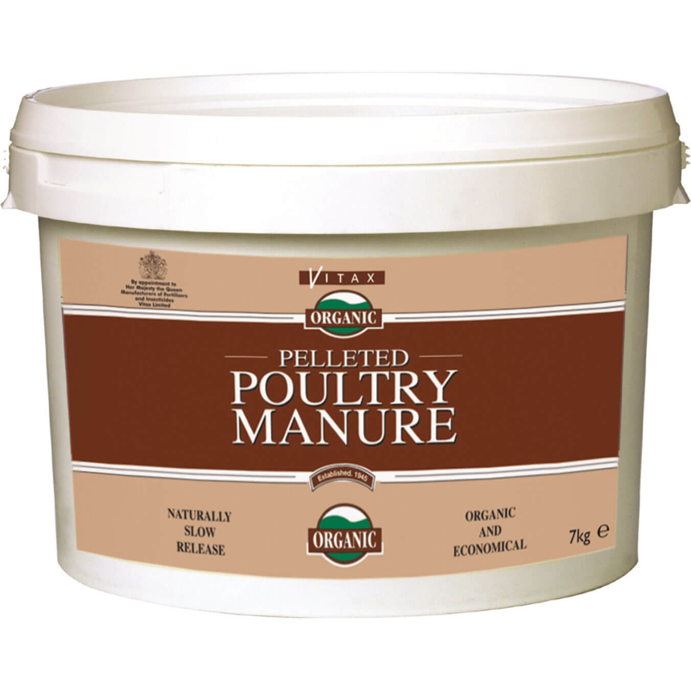 Vitax Pelleted Poultry Manure 7kg Tub