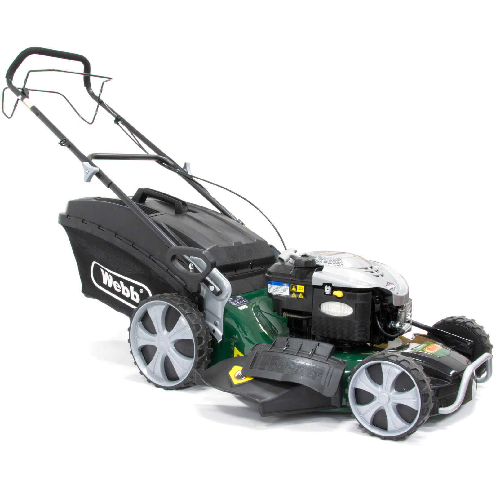 Webb R21HW Self Propelled Petrol 4 in 1 Rotary Lawn Mower 530mm Cut Width with Briggs & Stratton 675 Series Engine