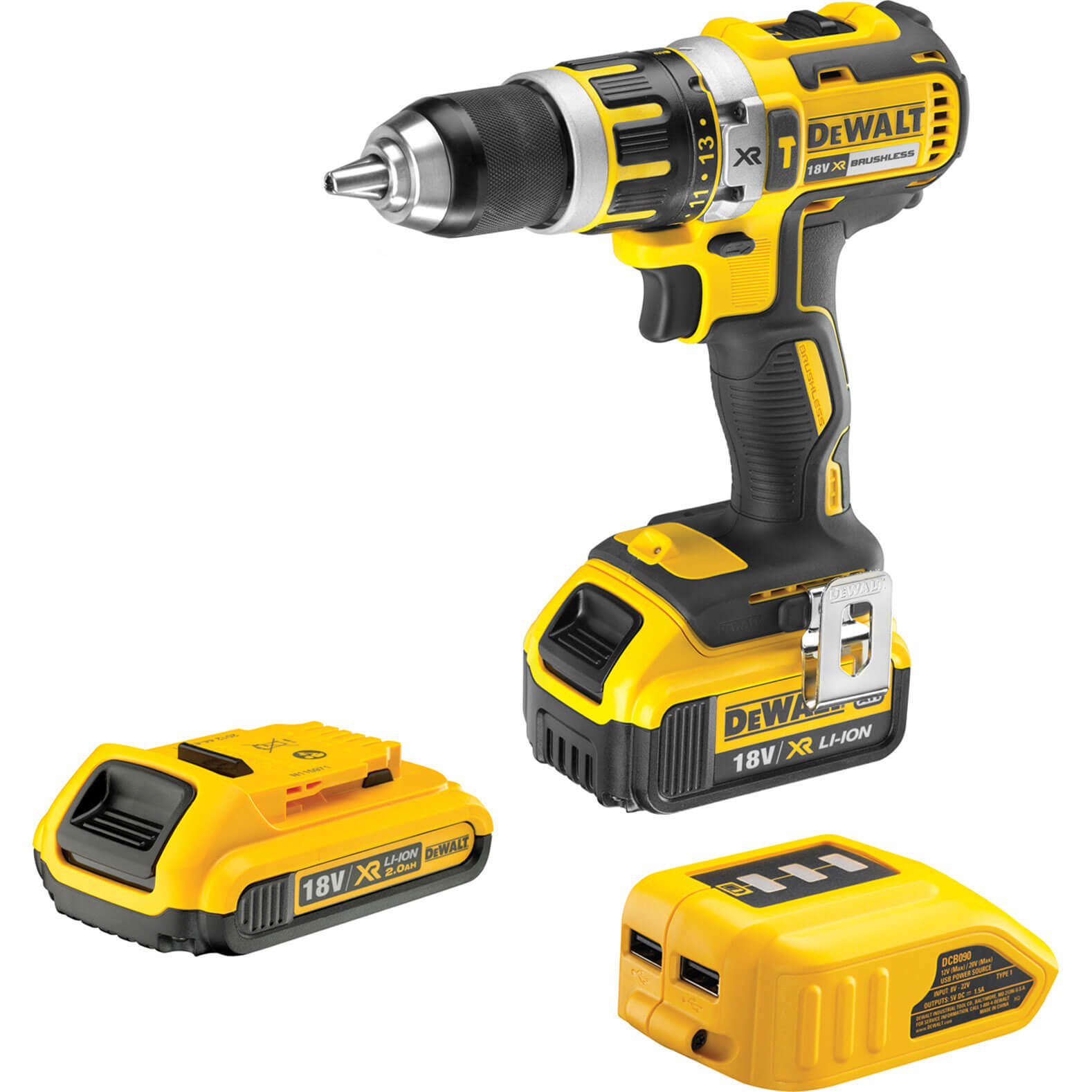 dewalt dcd737d2 gb 144v xr 2ah li ion cordless combi drill brushless motor. Black Bedroom Furniture Sets. Home Design Ideas