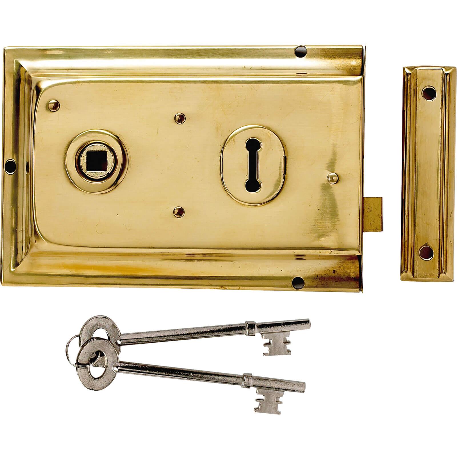 Yale Locks P334 Rim Lock Grey Finish 156 x 104mm