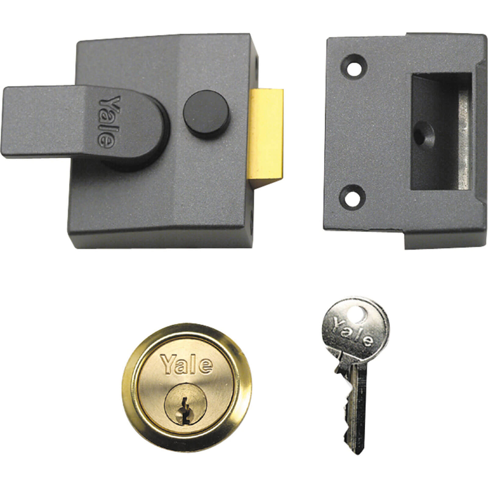 Yale Locks P85 Deadlocking Nightlatch Brasslux Finish 40mm