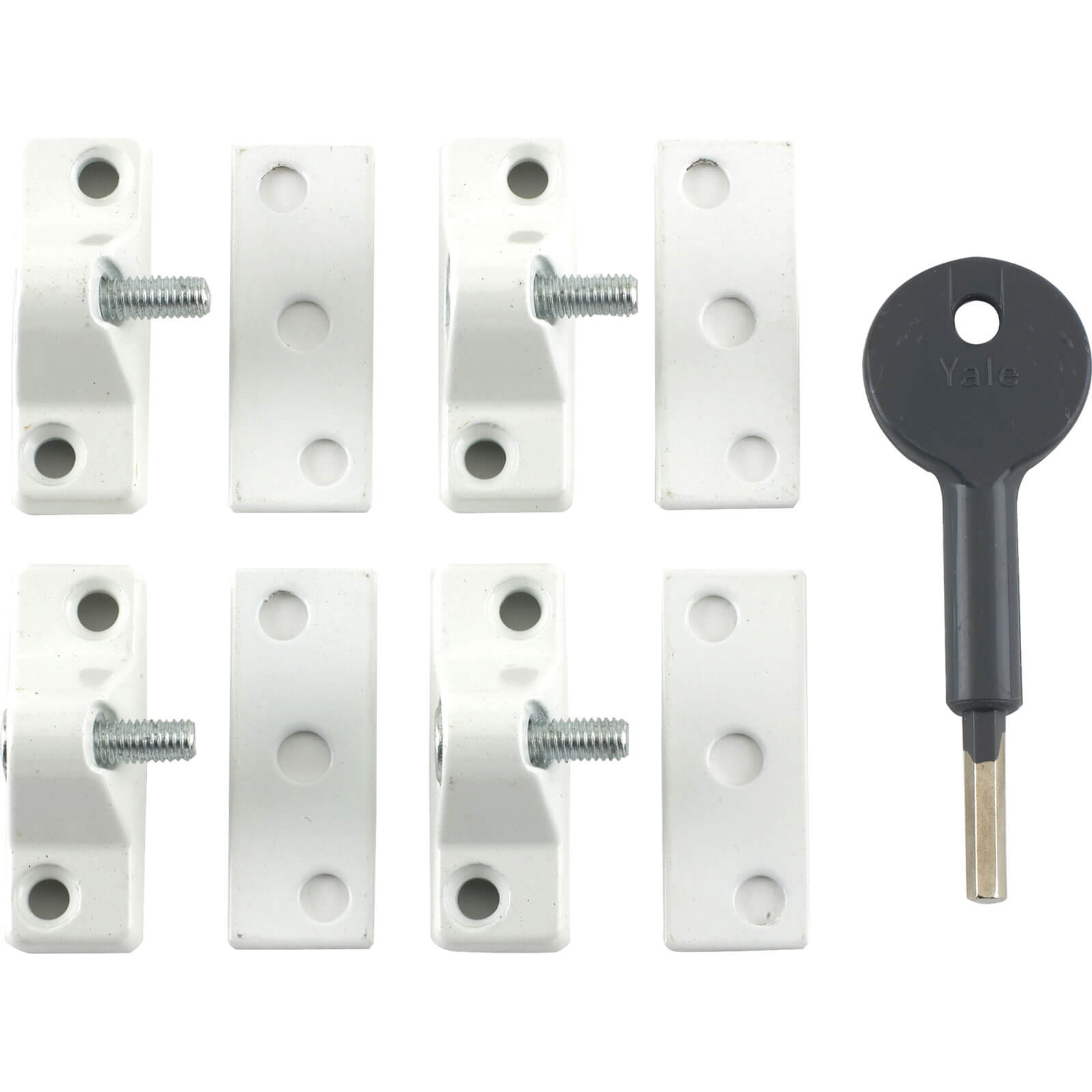 Yale Locks 8K118 Economy Window Lock White Finish Pack 4