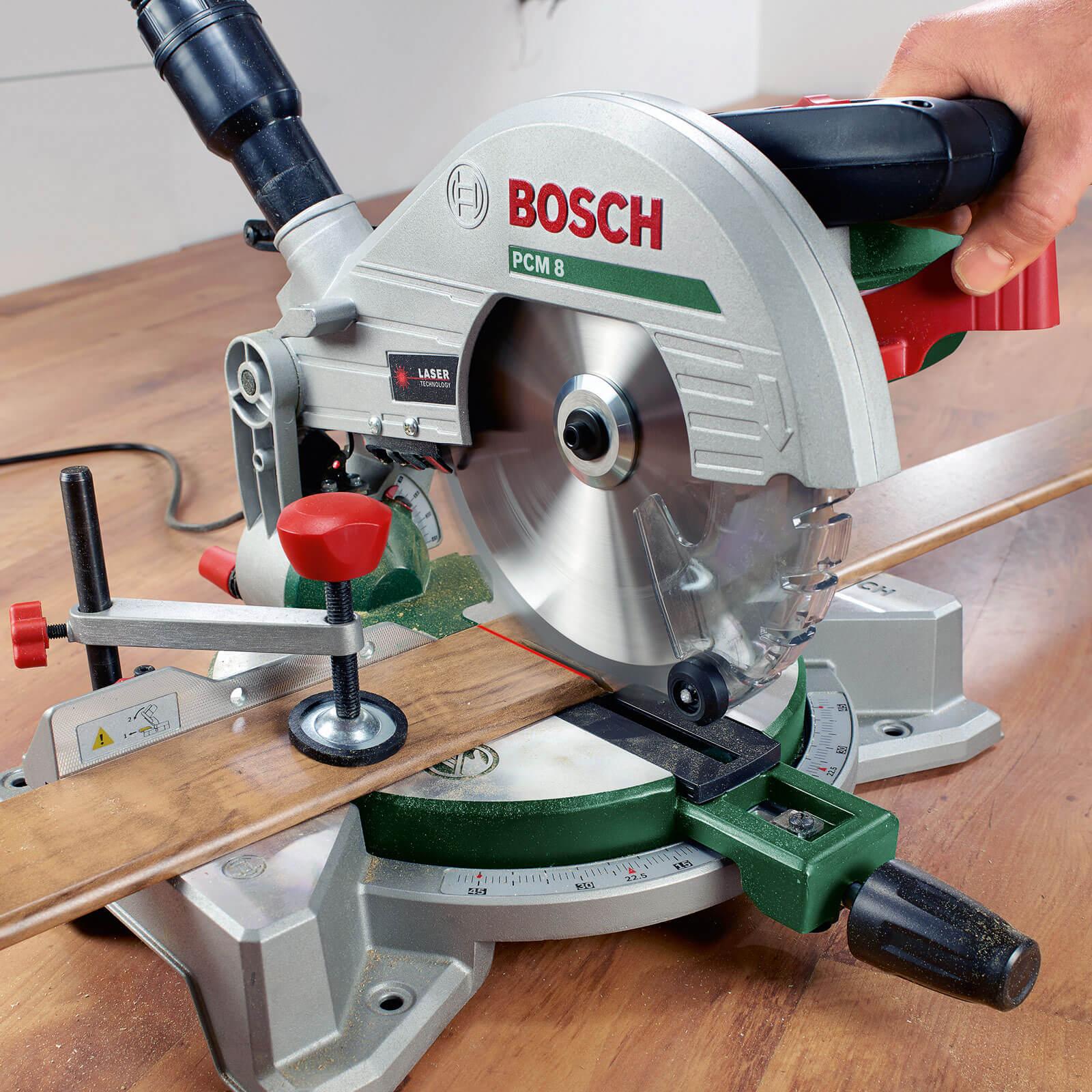 bosch pcm 8 compound mitre saw 210mm blade 1200w 240v tooled. Black Bedroom Furniture Sets. Home Design Ideas