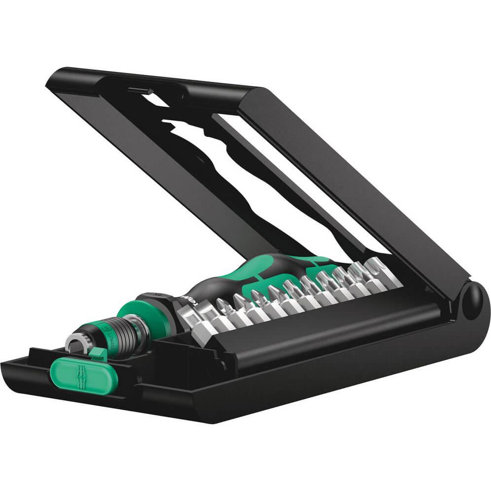 Click to view product details and reviews for Wera 14 Piece Kraftform Kompakt Screwdriver Bit Set.