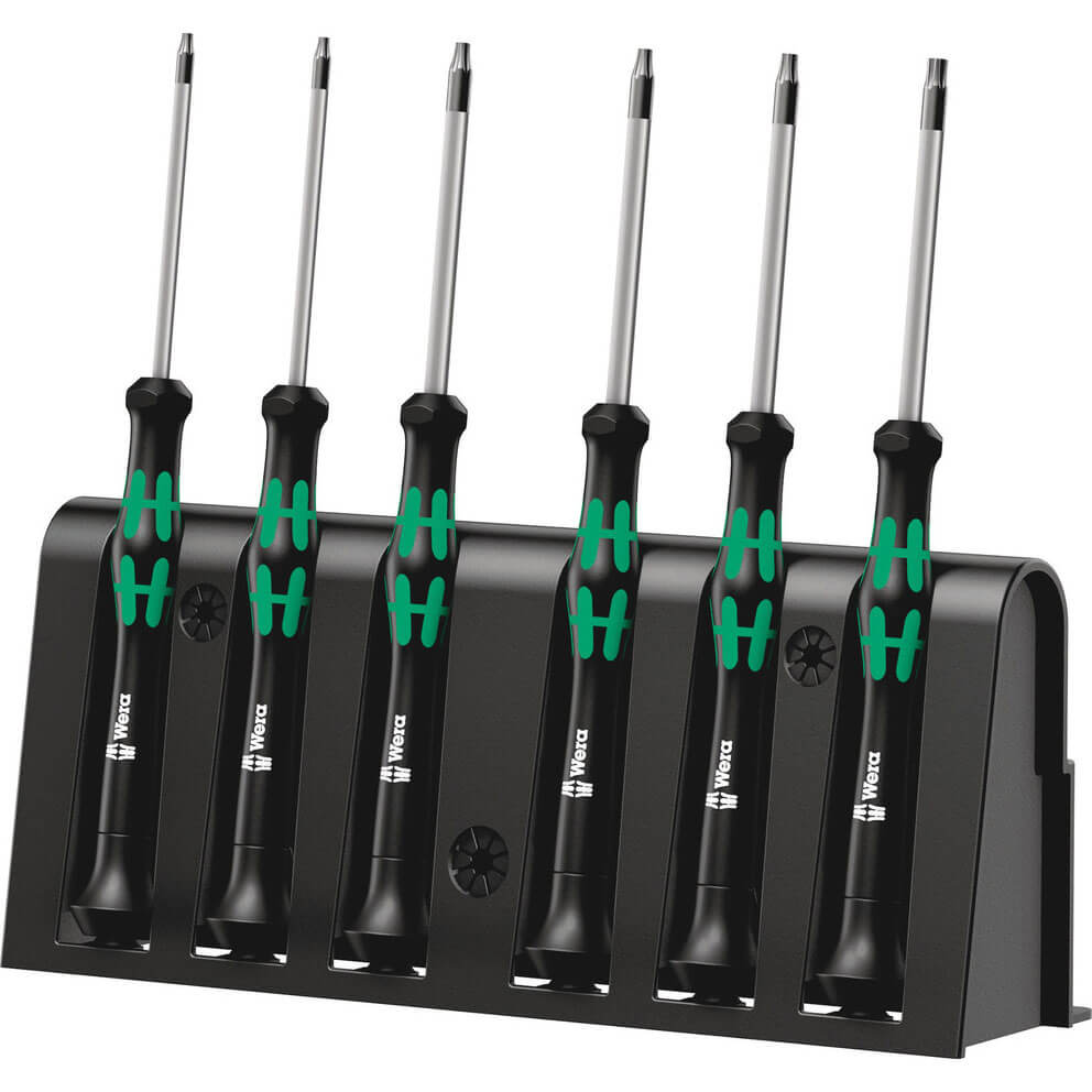 Wera 6 Piece 2067 6 Kraftform Micro Security Torx Screwdriver Set