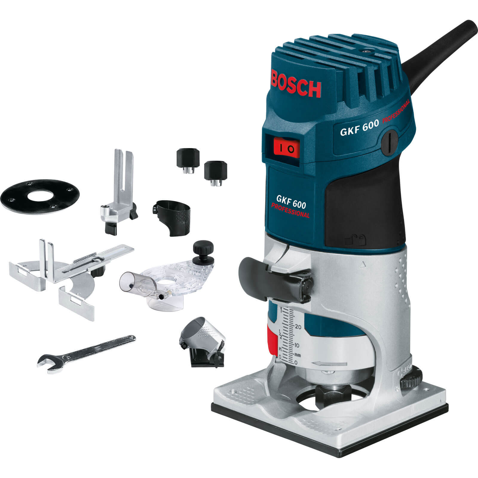 "Image of Bosch GKF 600 1/4"" Compact Fixed Base Palm Router 110v"