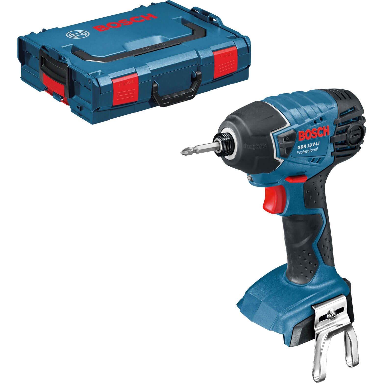 bosch gdr 18 v li 18v cordless impact driver no batteries no charger case. Black Bedroom Furniture Sets. Home Design Ideas