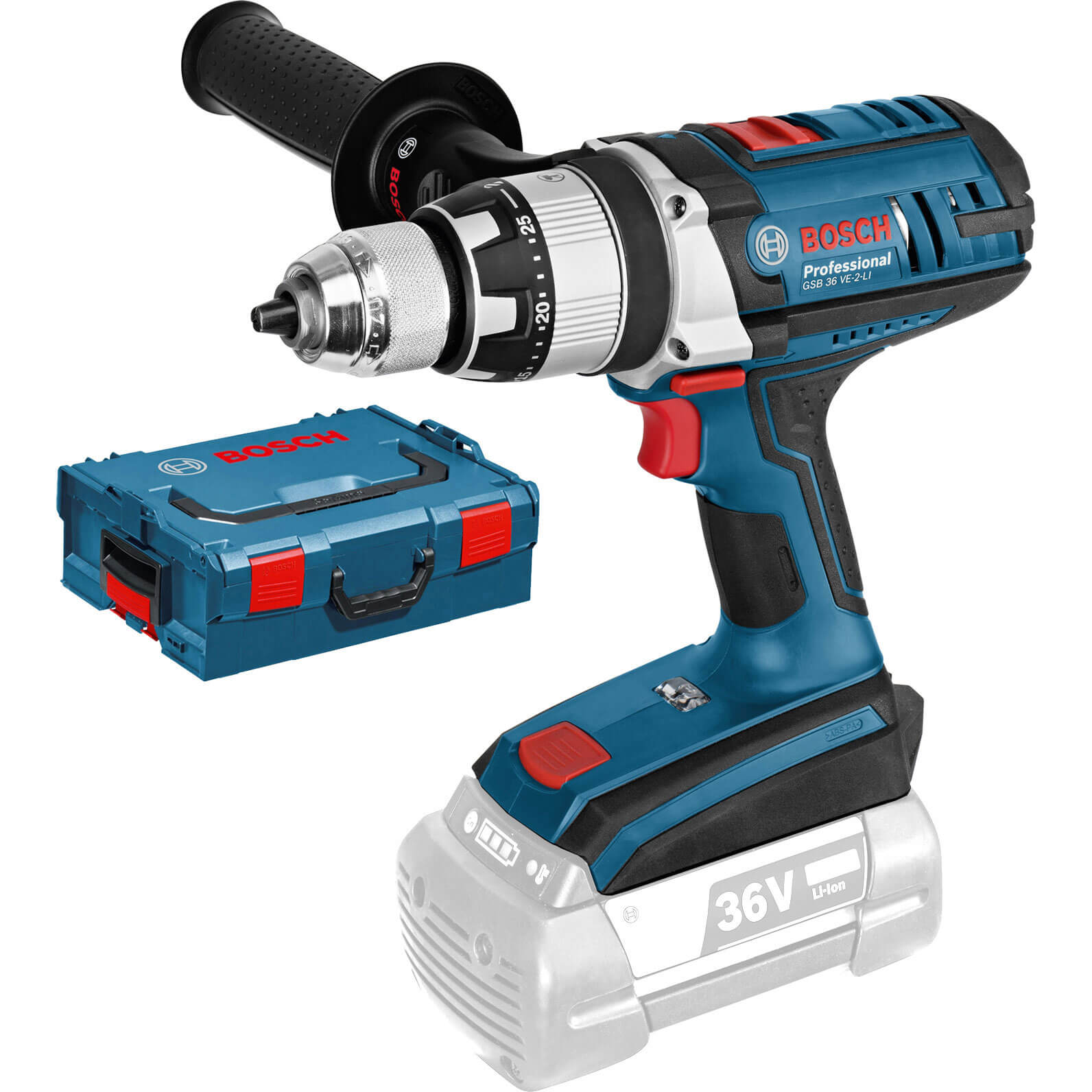 bosch gsb 18 ve 2 li 18v cordless robustseries 2 speed combi drill without battery or charger. Black Bedroom Furniture Sets. Home Design Ideas