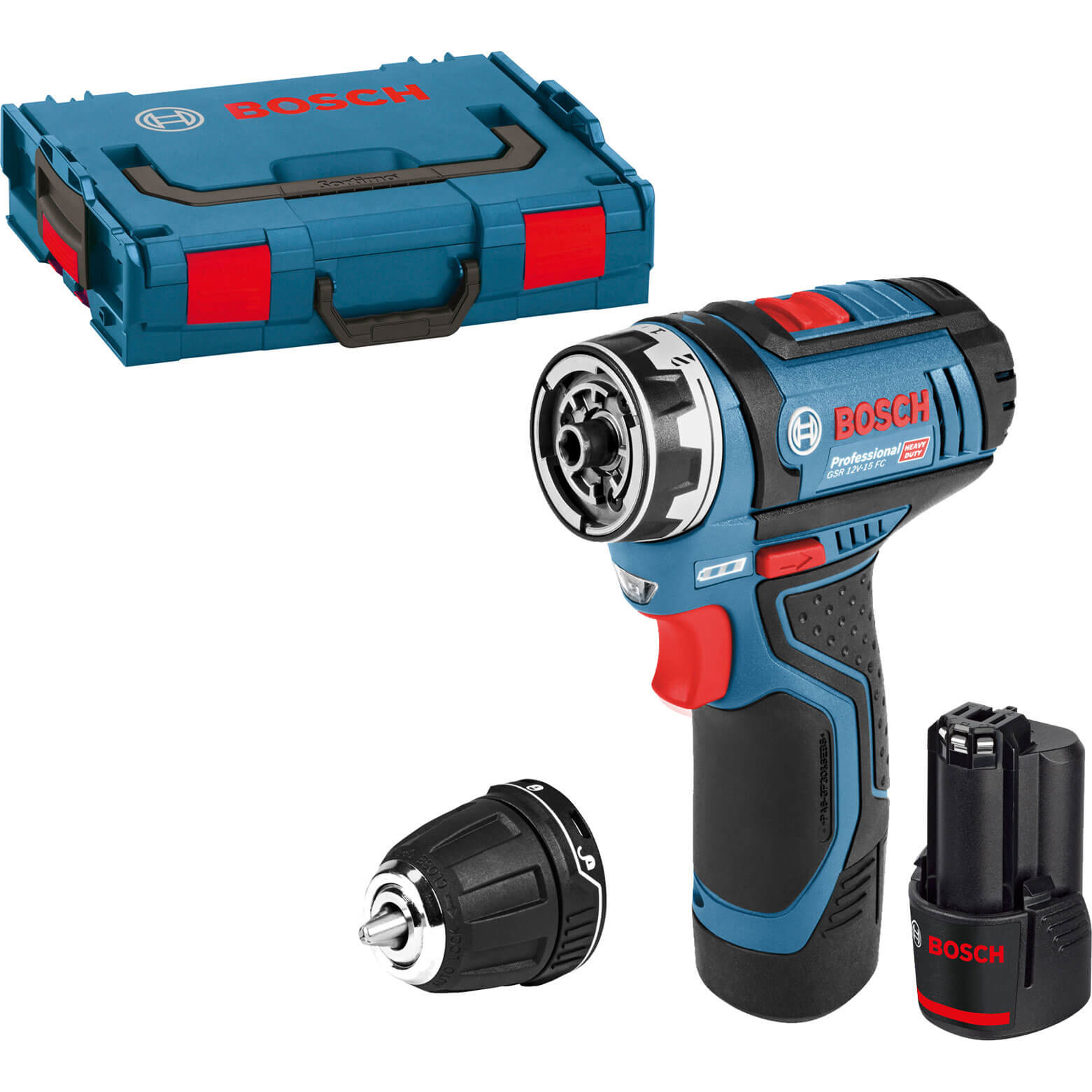 Bosch GSR 12 V-15 FC Cordless Brushless Drill Driver 2 x 2ah Li-ion Charger Case