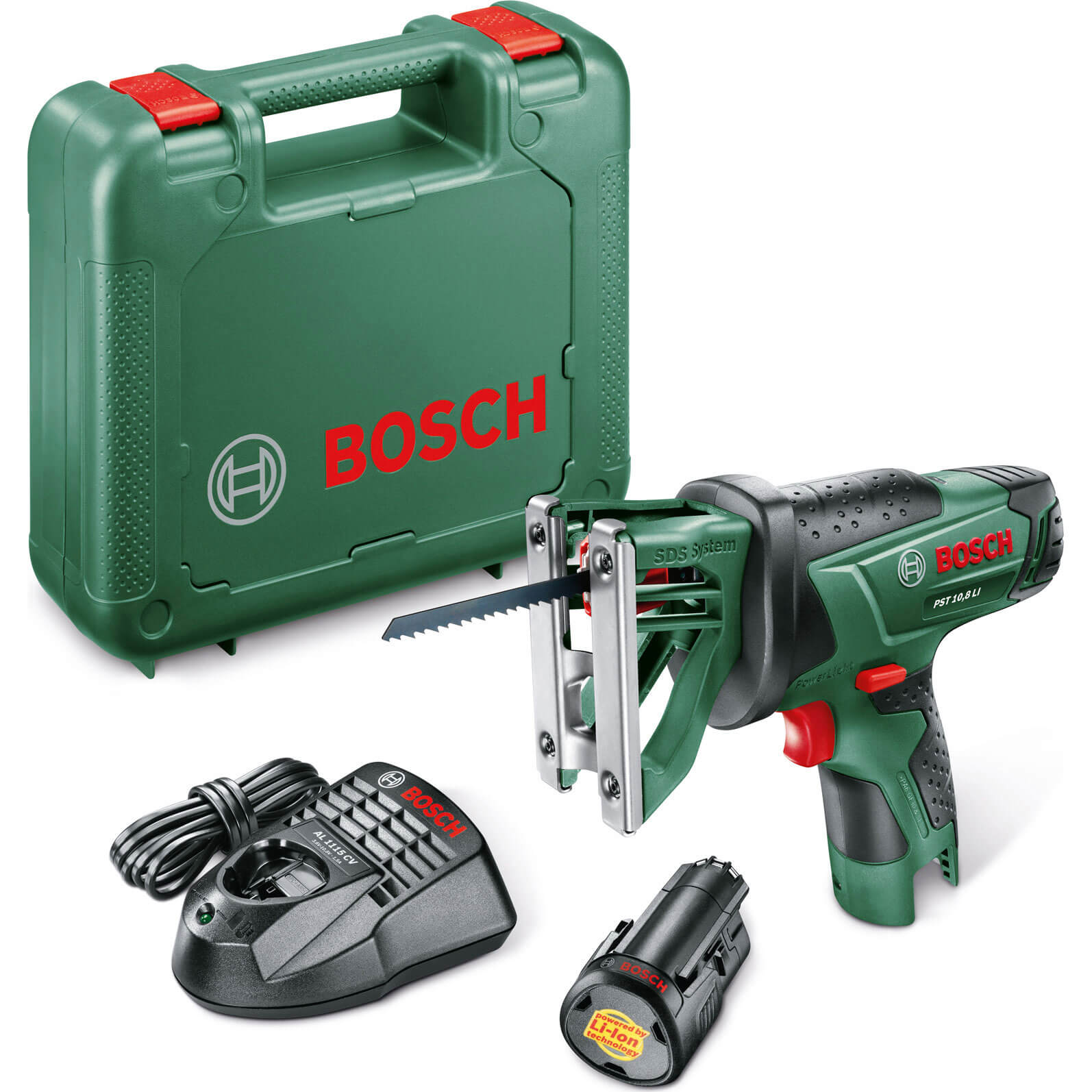zzz bosch power4all pst 10 8 li cordless jigsaw reciprocating saw with 1 li ion battery. Black Bedroom Furniture Sets. Home Design Ideas