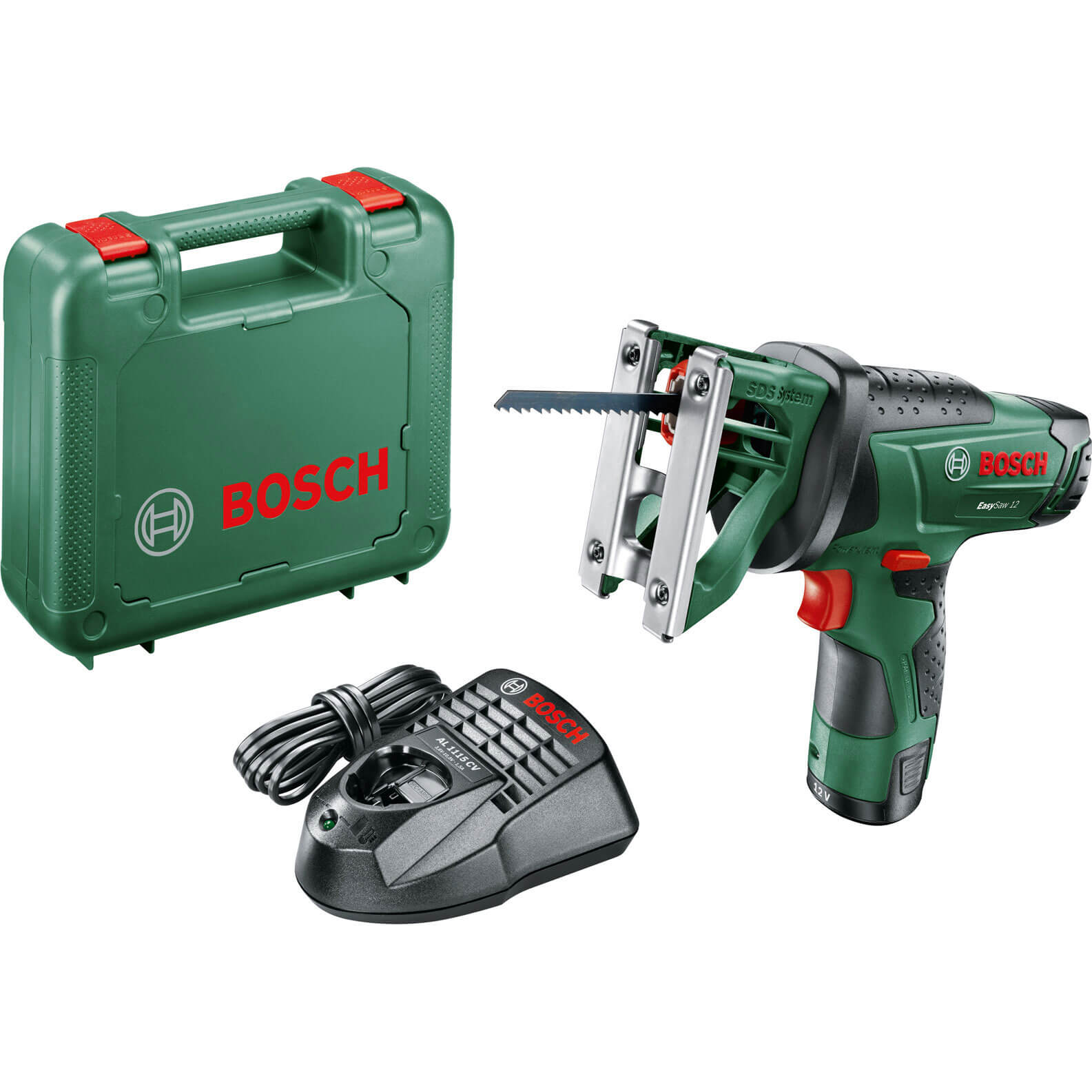 Bosch EASYSAW 12v Cordless Jigsaw 1 x 2.5ah Liion Charger Case