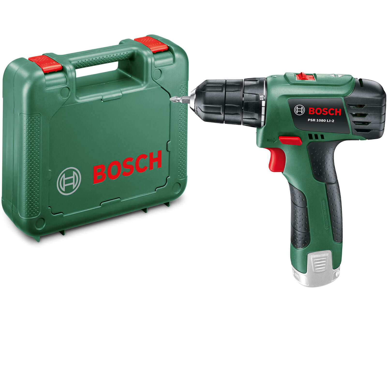 zzz bosch psr 1080 li cordless drill driver without battery or charger. Black Bedroom Furniture Sets. Home Design Ideas