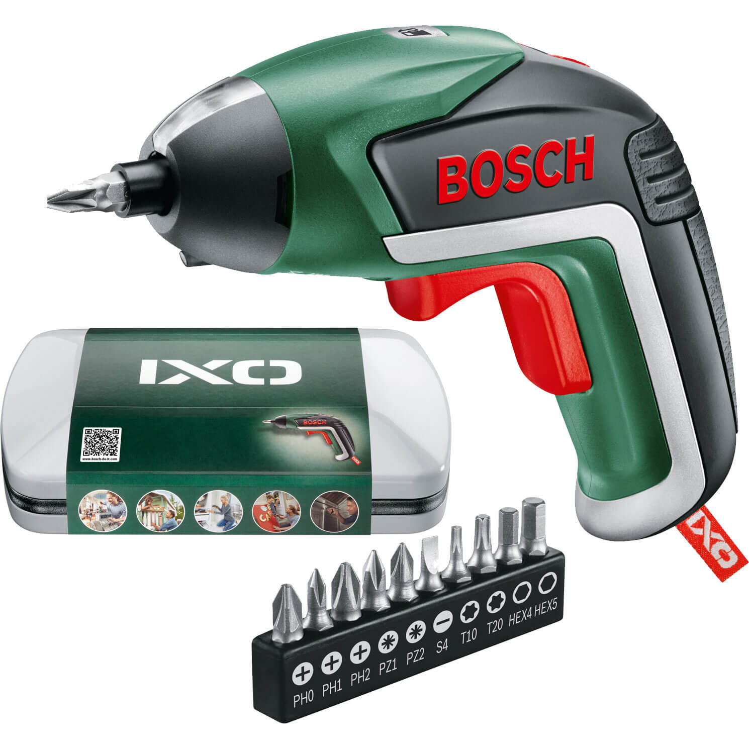 Bosch IXO V 3.6v Cordless Screwdriver 1 x 1.5ah Integrated Liion Charger Case