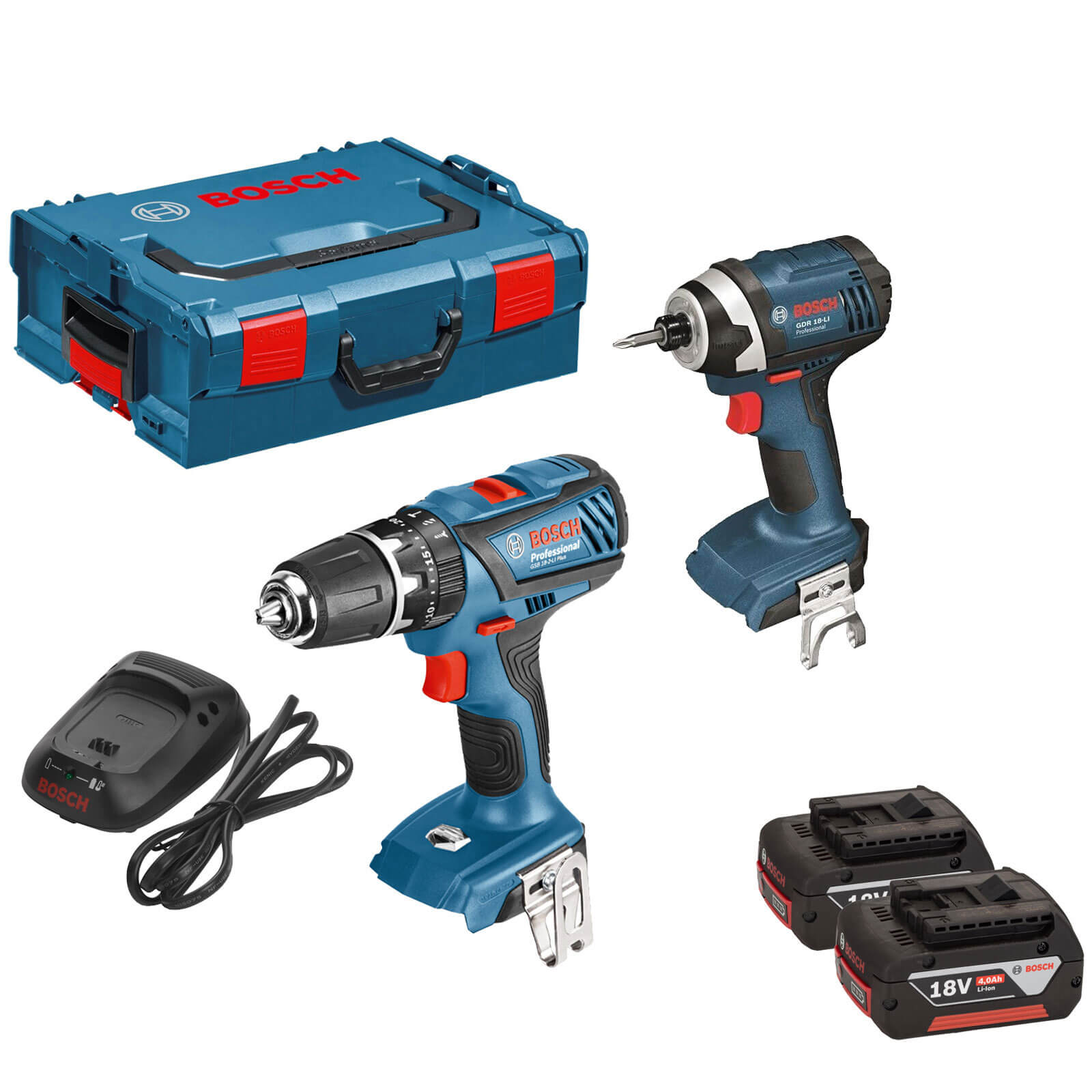 bosch gsb 18 2 li plus 18v cordless combi drill impact driver. Black Bedroom Furniture Sets. Home Design Ideas