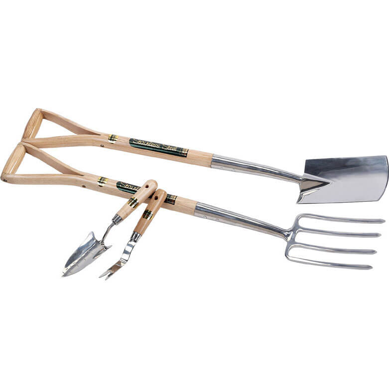 Image of Draper Expert 2 Piece Stainless Steel Border Fork & Spade Set
