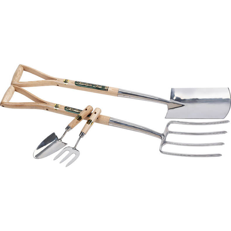 Image of Draper Expert 2 Piece Stainless Steel Fork & Spade Set