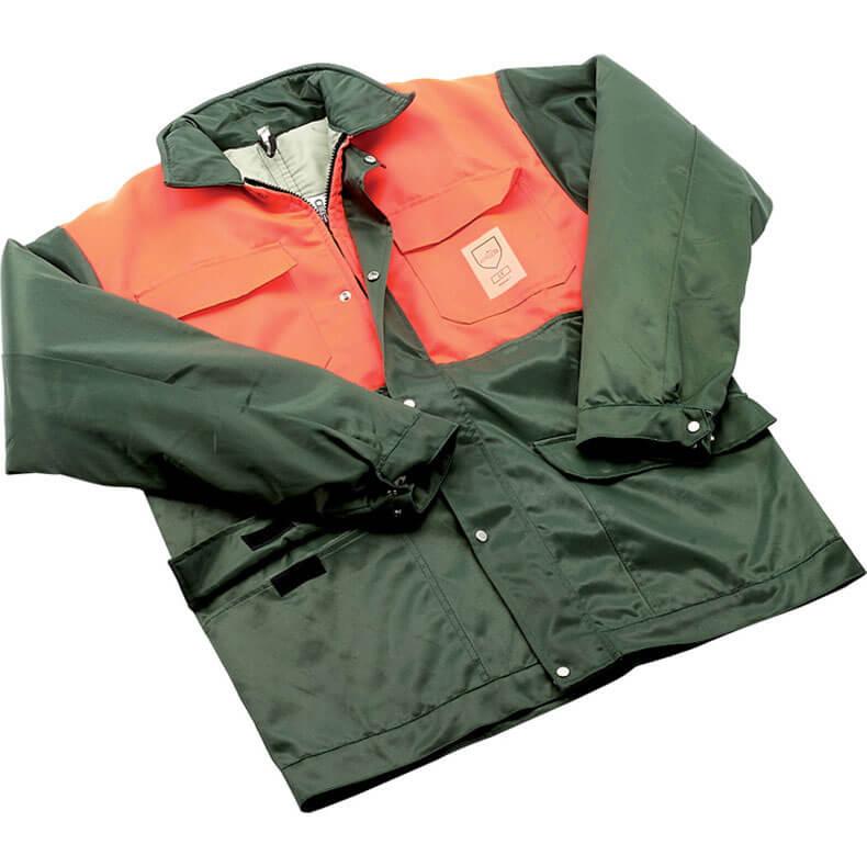 Image of Draper Expert Chainsaw Jacket Green / Orange M