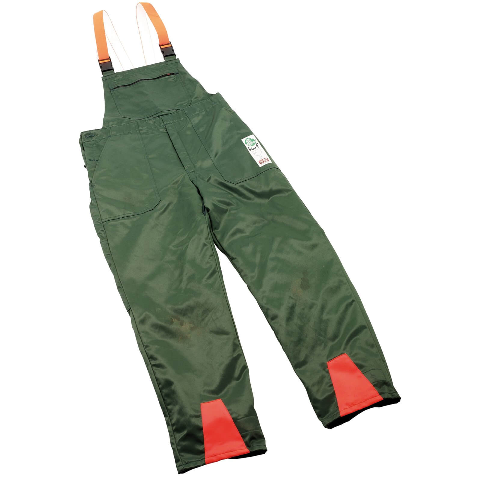 Image of Draper Expert Chainsaw Trousers Green / Orange L