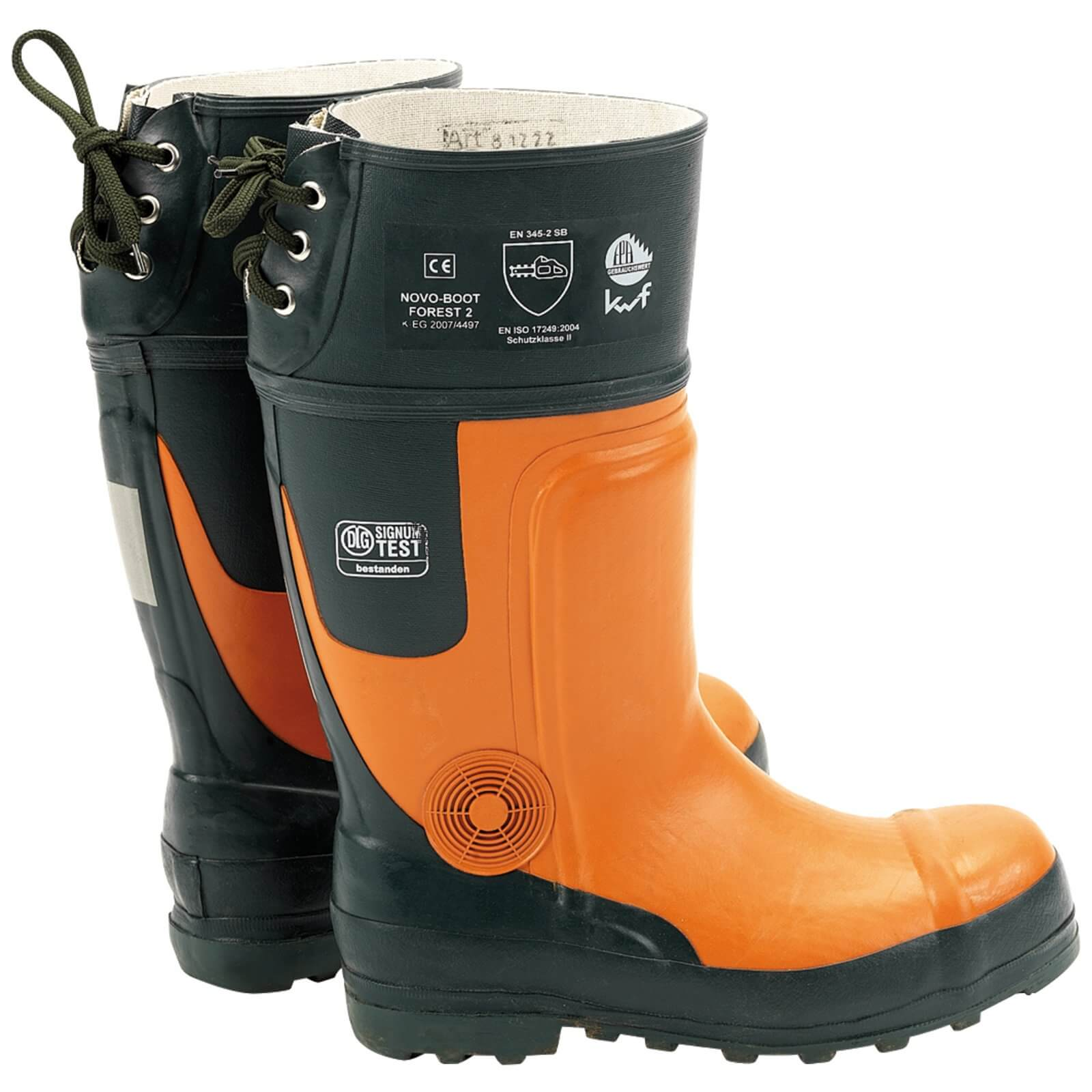 Draper Expert Mens Chainsaw Safety Boots Black / Orange Size 9