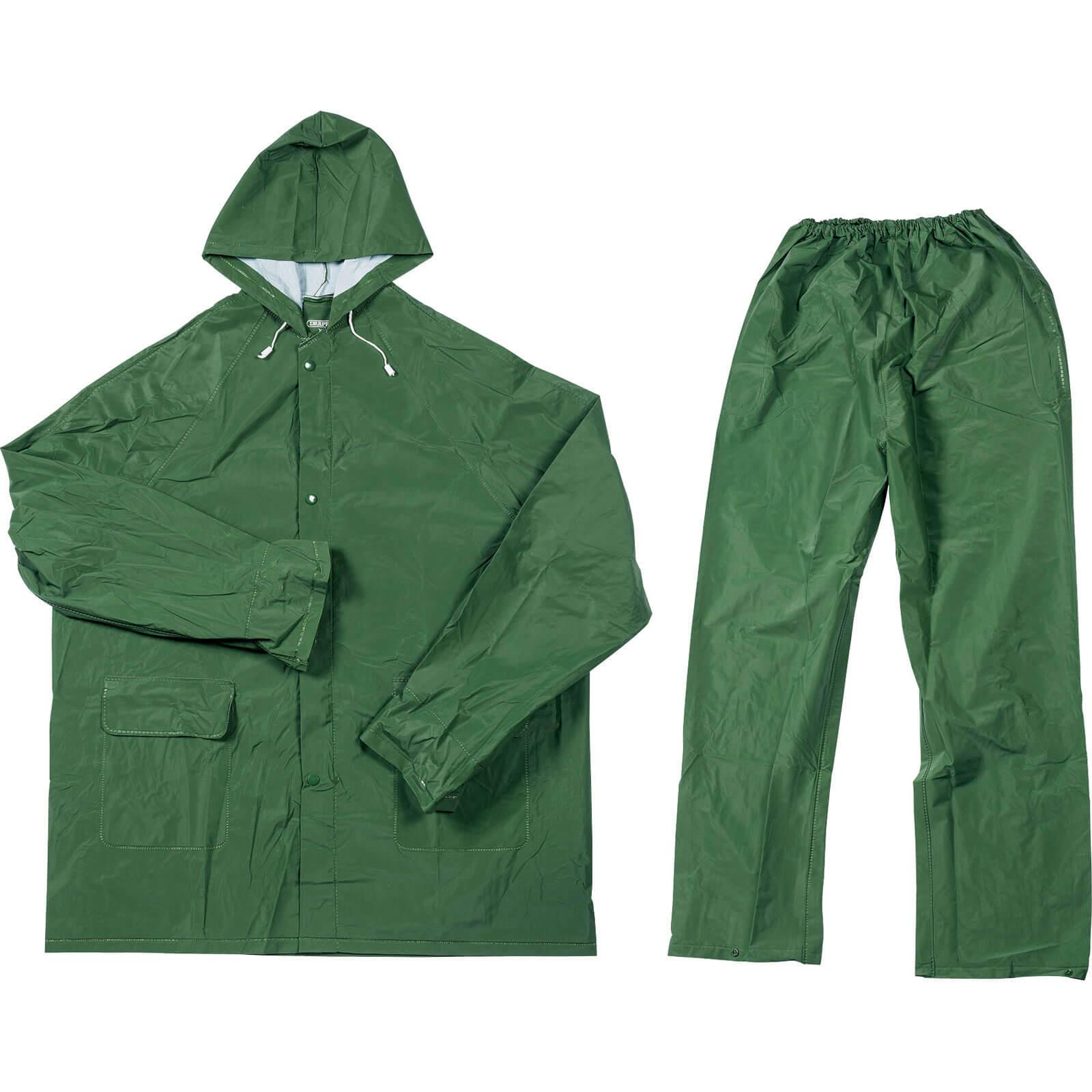 Draper 2 Piece Lightweight Rain Suit Green One Size